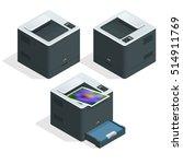 isometric set of laser printer...   Shutterstock .eps vector #514911769