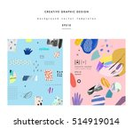collection of trendy creative... | Shutterstock .eps vector #514919014