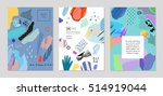 collection of trendy creative... | Shutterstock .eps vector #514919044