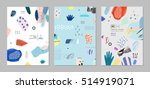 collection of trendy creative... | Shutterstock .eps vector #514919071