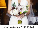 beautiful bouquet of different... | Shutterstock . vector #514919149