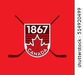a vector canadian crest... | Shutterstock .eps vector #514920499