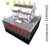 3d illustration of diagram of a ... | Shutterstock .eps vector #514925401