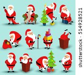 collection of christmas smiling ... | Shutterstock .eps vector #514928521