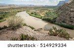 Rio Grande River On The Border...
