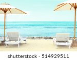 Beach Chairs On Exotic Tropica...