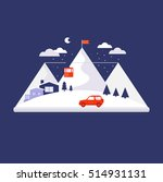 mountain winter design concept... | Shutterstock .eps vector #514931131