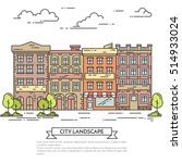 city skyline in line art style  ... | Shutterstock .eps vector #514933024