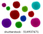 colorful lip gloss drop on... | Shutterstock . vector #514937671