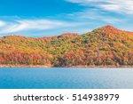 autumn season at lake with... | Shutterstock . vector #514938979