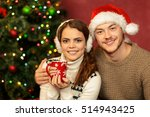 their first christmas together. ... | Shutterstock . vector #514943425