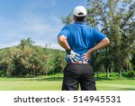 golfer back pain during a game  ... | Shutterstock . vector #514945531
