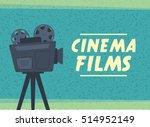 retro movie projector film... | Shutterstock .eps vector #514952149