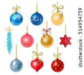 christmas tree decorations... | Shutterstock .eps vector #514954759