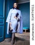 beautiful sexy woman brunette... | Shutterstock . vector #514974511
