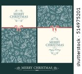 vector set. christmas and new... | Shutterstock .eps vector #514975201