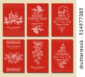 vector set. christmas and new... | Shutterstock .eps vector #514977385