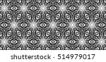 ornament with elements of black ...   Shutterstock . vector #514979017