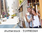 couple tourists riding the... | Shutterstock . vector #514980364