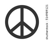 peace sign. hippie symbol of