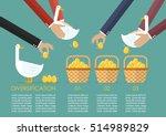 allocating golden eggs into...   Shutterstock .eps vector #514989829