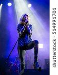 Small photo of BENICASSIM, SPAIN - JUL 16: The Kills (rock band formed by the singer Alison Mosshart, VV, and guitarist Jamie Hince) perform in concert at FIB Festival on July 16, 2016 in Benicassim, Spain.