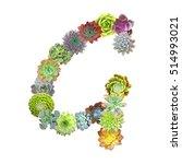 succulent letter g
