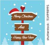 merry christmas sign... | Shutterstock .eps vector #514998991