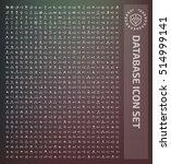 database icon set clean vector | Shutterstock .eps vector #514999141