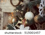 Close Up Of Decorated Christmas ...