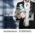 businessman with financial... | Shutterstock . vector #515002651