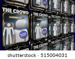 the crowd same group people... | Shutterstock . vector #515004031