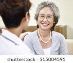 senior asian woman having a... | Shutterstock . vector #515004595