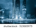 high rises in shanghai's new... | Shutterstock . vector #515005975