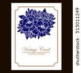 romantic invitation. wedding ... | Shutterstock .eps vector #515011249