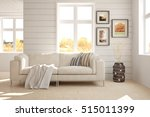 white room with sofa.... | Shutterstock . vector #515011399