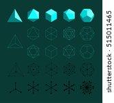 platonic solids. tetrahedron ... | Shutterstock .eps vector #515011465