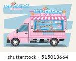 side view of ice cream van.... | Shutterstock .eps vector #515013664