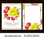 invitation with floral...   Shutterstock .eps vector #515013691