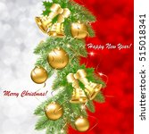 christmas background with... | Shutterstock .eps vector #515018341
