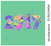 happy new year 2017 background. ... | Shutterstock .eps vector #515019904