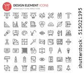 design element icons   thin... | Shutterstock .eps vector #515021395