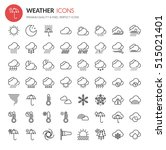 weather element icons   thin... | Shutterstock .eps vector #515021401