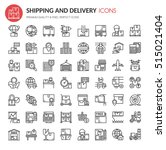 shipping and delivery icons  ... | Shutterstock .eps vector #515021404