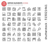 office element icons   thin... | Shutterstock .eps vector #515021461
