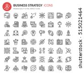 business strategy icons   thin... | Shutterstock .eps vector #515021464