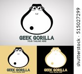 geek gorilla logo design for... | Shutterstock .eps vector #515027299