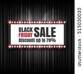 black friday sale retro sign.... | Shutterstock .eps vector #515030035