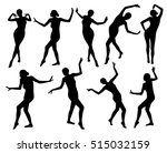 posing woman silhouettes | Shutterstock .eps vector #515032159