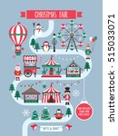 christmas market and holiday... | Shutterstock .eps vector #515033071